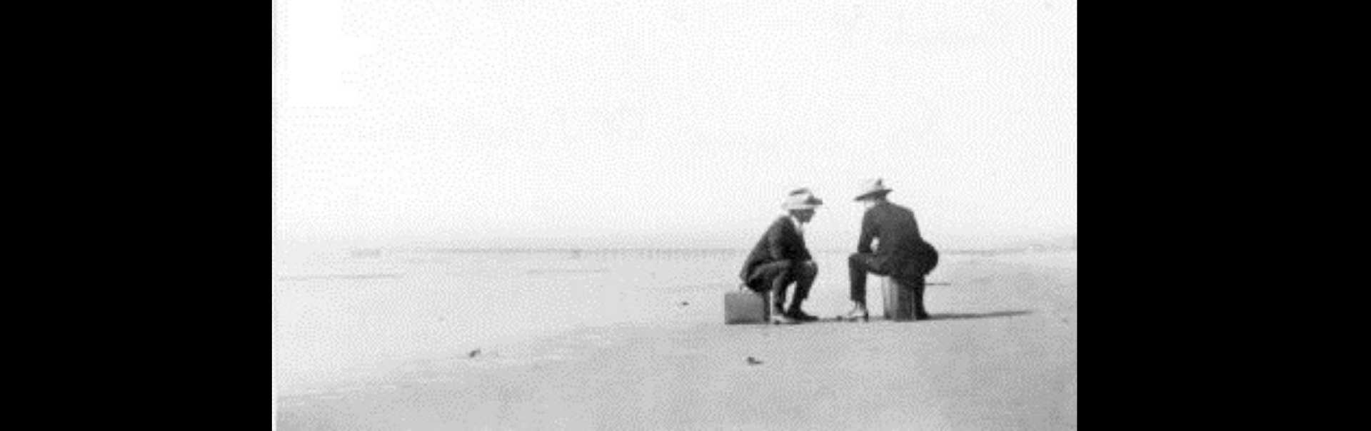 Two Standard Oil Businessmen at Beach Near El Segundo 1911