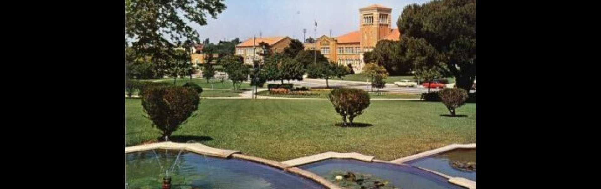 Library Park and El Segundo High School 1959