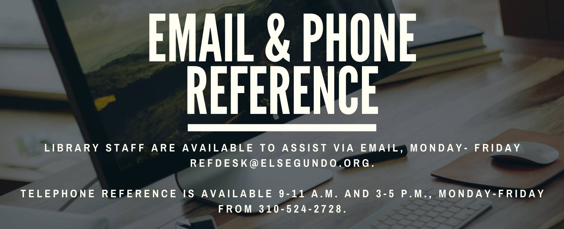 Website Banner for email and phone reference